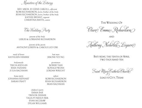 catholic wedding program template without mass and galveston bay catholic wedding programs for non mass ceremony cultural wedding