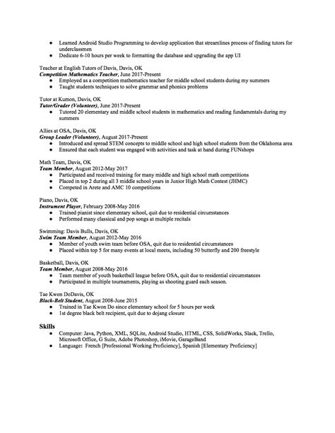 High School Resume by High School Resume How To Write The Best One Templates