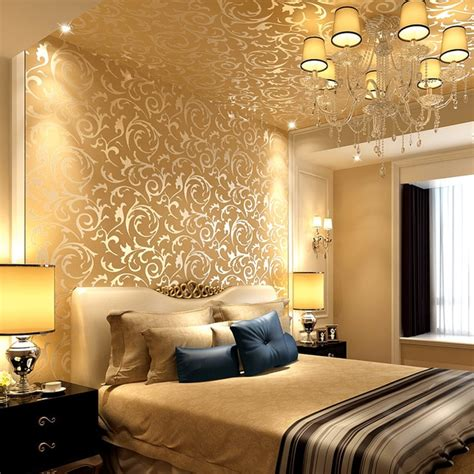 luxury  gold wallpaper  woven cloth european style