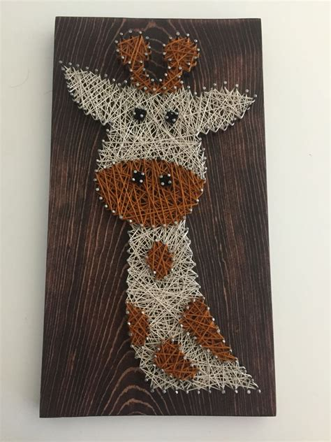 giraffe string art crafts pinterest string art