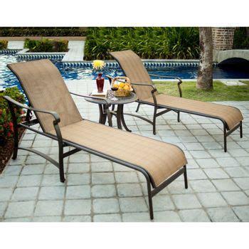 saratoga 3 sling patio chaise set costco outdoor