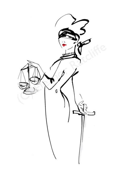 Signed original print - Lady Justice - 8.27 × 11.69 inches/210 × 297 mm - A4 size | Work it girl