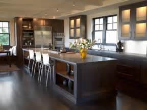 image cuisine ouverte sur salon cuisine americaine design en bois