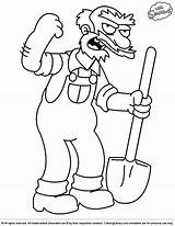 Simpsons Coloring Printable Library Bookmark sketch template