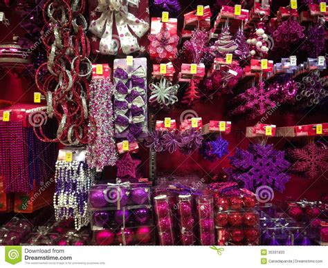 christmas ornaments  sale editorial stock photo image