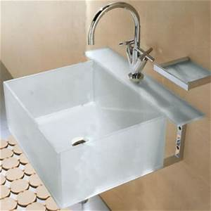Open kristallux kubo glass sinks for How deep is a bathroom vanity