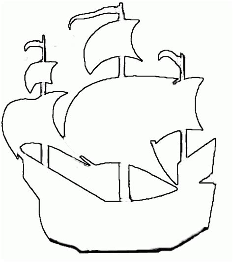 Boat Hull Outline by Ship Outline Coloring Home