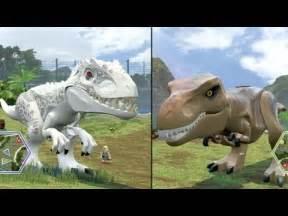 Rex vs Dinosaurs Jurassic World T-Rex Indominus