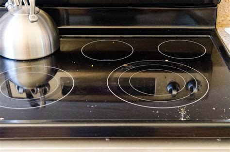 clean  glass electric stovetop kitchn