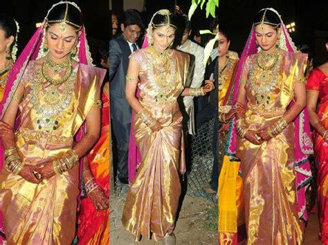 Sneha Reddy's Wedding Saree –south India Fashion