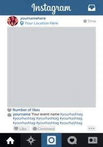 Instagram Frame Prop Template