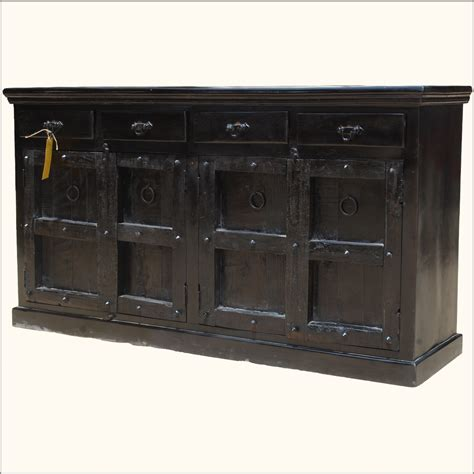 Black Wood Sideboard by Reclaimed Buffet Table Black Wood Rustic Sideboard Chest