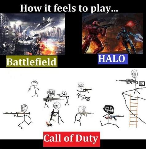 Cod Memes - battlefield vs halo vs call of duty funny pinterest