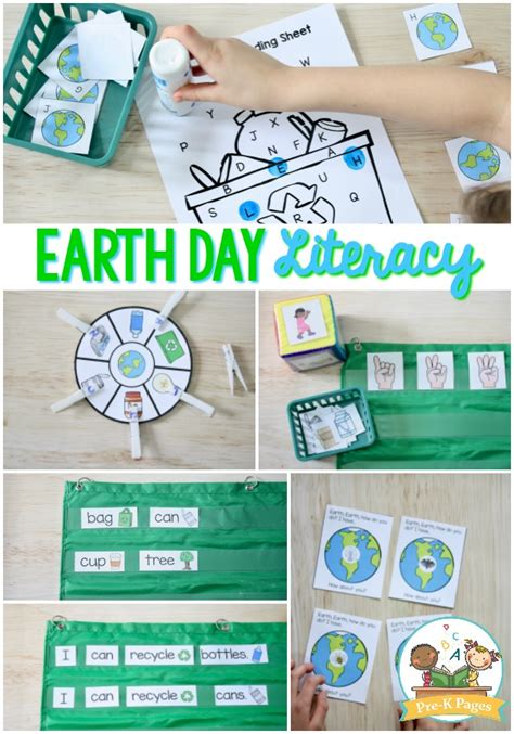 earth day literacy activities for preschool pre k pages 337 | Earth Day Literacy