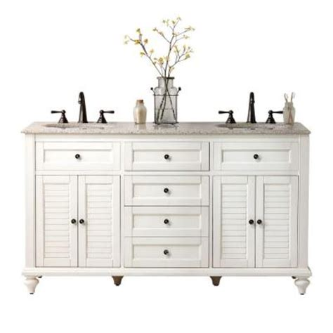 two sink vanity home depot home decorators collection hamilton 61 in w x 22 in d