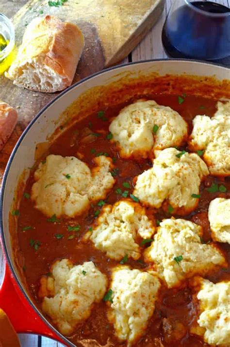 simple goulash recipe  steamed dumplings  pot