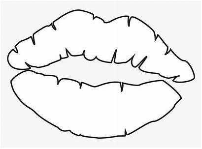 Lips Coloring Kiss Kissing Drawings Hershey Draw