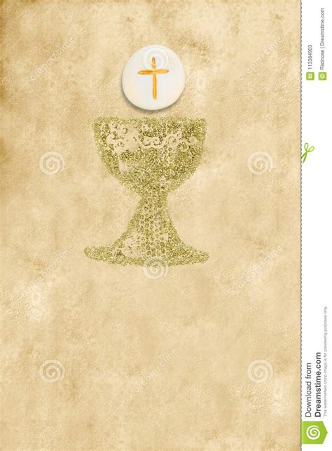 First Holy Communion Invitation Vertical Card Stock Image