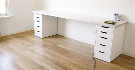 kitchen cabinet drawer diy desk all ikea components looks kinda cheap though 2483