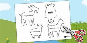 The Billy Goats Gruff Shadow Puppets