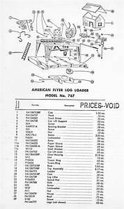 American Flyer Log Loader 787 Parts List  U0026 Diagram