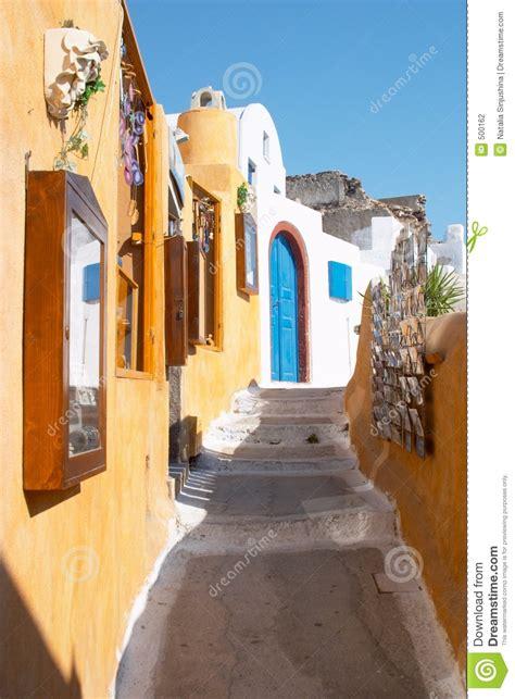 Street In Oia Santorini Greece Stock Photo Image 500162