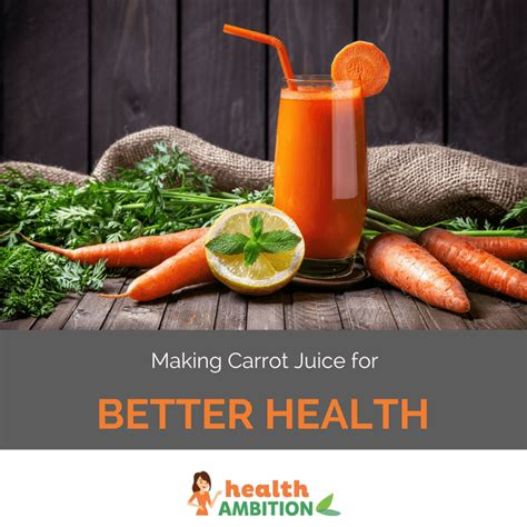 making carrot juice   health