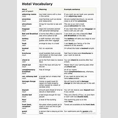 Hotel Vocabulary Worksheet  Free Esl Printable Worksheets Made By Teachers