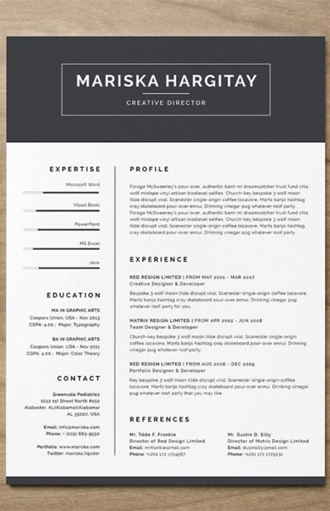 Indesign Resume Template by 40 Best Indesign Resume Templates Free Pro Downloads