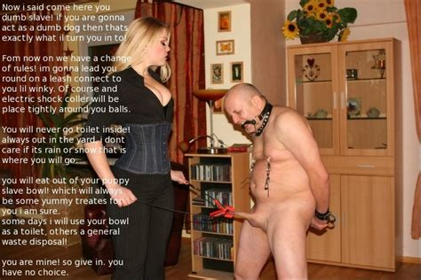 male slave training captions