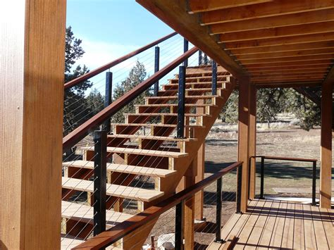 deck railing rail cable posts aluminum wood stainless steel stairs stainlesscablerailing