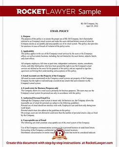 company email policy template with sample With it policy document template