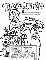 Traveling Kid Coloring Crayola Pages sketch template