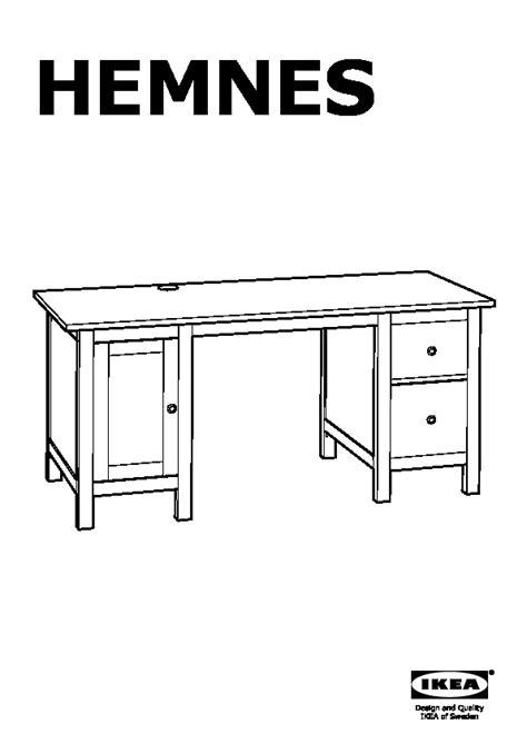 Ikea Hemnes Scrivania by Hemnes Scrivania Ed Elemento Supplementare Marrone Nero