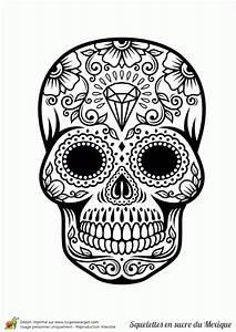 Dessin Tete De Mort Avec Rose : coloriages masques mexicains t te de mort imprimer fr hellokids com et tete de mort dessin avec ~ Melissatoandfro.com Idées de Décoration