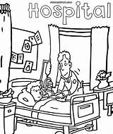 Hospital Coloring Pages Drawing Template Getdrawings Sketch Building sketch template