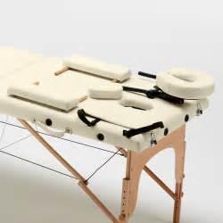 Lettino massaggio in legno pieghevole portatile zone