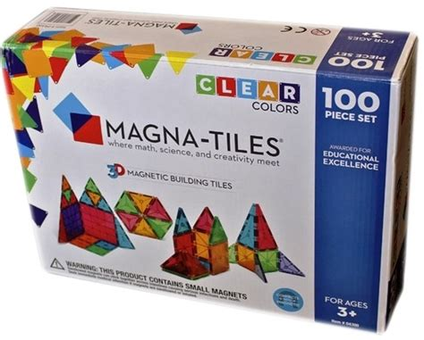 magna tiles clear colors 100 piece set a mighty girl