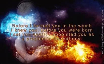 Jeremiah Verse Christian Bible Formed Before Christianwallpaperfree