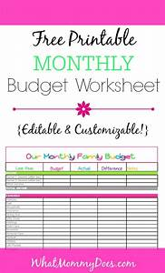 Customizable Planner Template Cute Monthly Budget Printable Free Editable Template