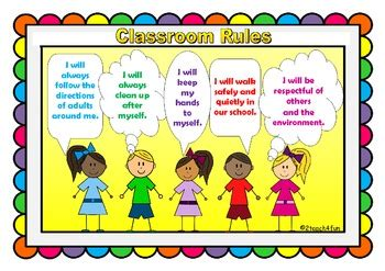 classroom rules posters child friendly  owls includes