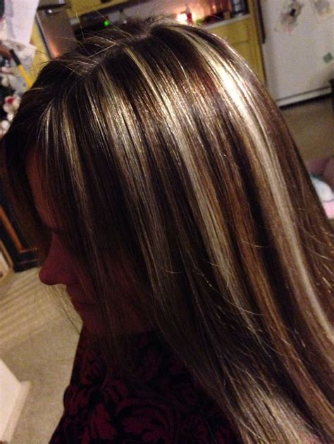 Foils Hairstyles by High Contrasting Color Foils Hair Hair Styles