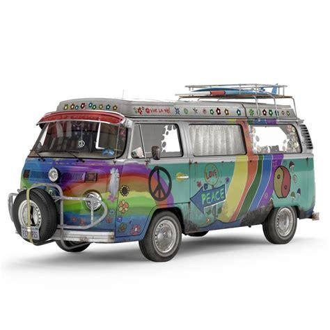 old volkswagen hippie van volkswagen t2 hippie van 3d model