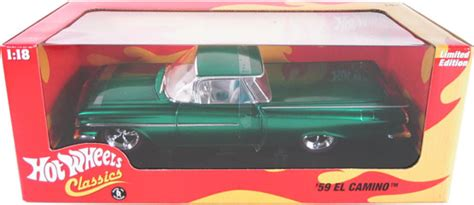 chevy el camino green hot wheels classics
