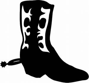 Cowboy Silhouette Patterns | Western boot with pattern ...