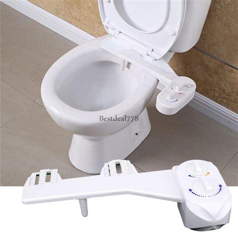 toilet seat bidet attachment bidet toilet attachment seat cleaning non electric sprayer nozzle cold water ebay