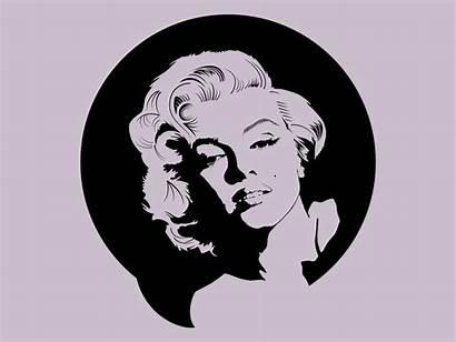 Vector Marilyn Monroe Famous Stencils Schwarzenegger Arnold