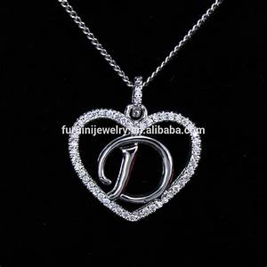 beautiful design 925 silver letter d necklaceletter With silver letter d necklace