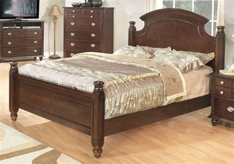 Dark Brown Finish Transitional 6pc Bedroom Set Woptions