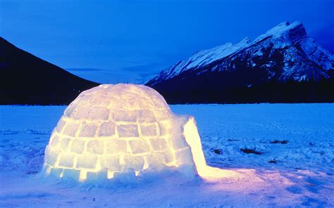 igloo wallpaper mobile  landscape monodomo